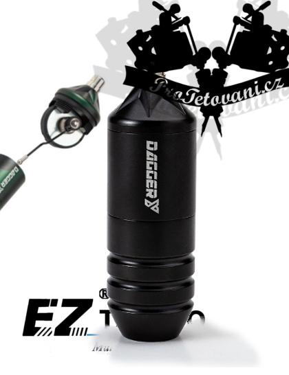 Rotační tetovací strojek EZ DAGGER Y GREASE BLACK FAULHABER