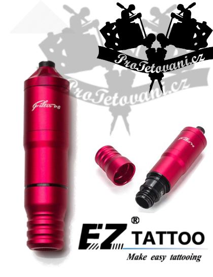 Rotační tetovací strojek EZ FILTER V2 PEN RED