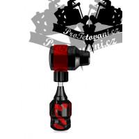 FLINT RED rotary tattoo machine and tattoo grip