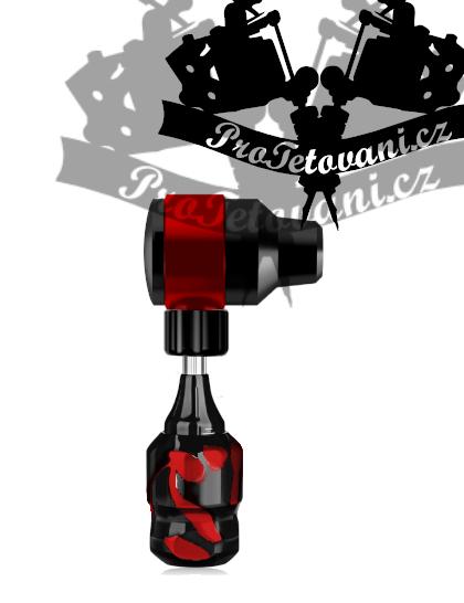 Rotační tetovací strojek FLINT RED a tetovací grip