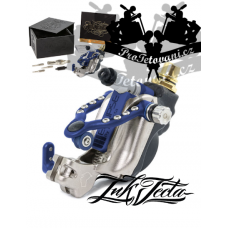INKJECTA ECLIPSE SILVER BLUE Rotary tattoo machine