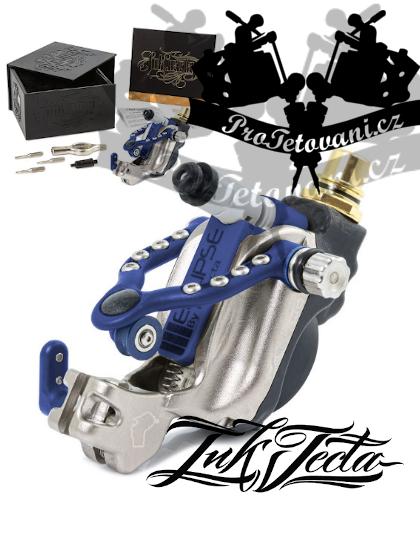 Rotační tetovací strojek INKJECTA ECLIPSE SILVER BLUE