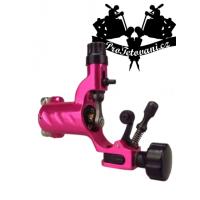 Fly Metalic pink rotary tattoo machine and tattoo grip