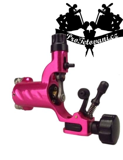 Rotační tetovací strojek Fly Metalic pink  a tetovací grip