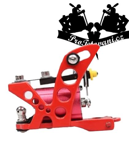 Rotační tetovací strojek Red Iron a tetovací grip