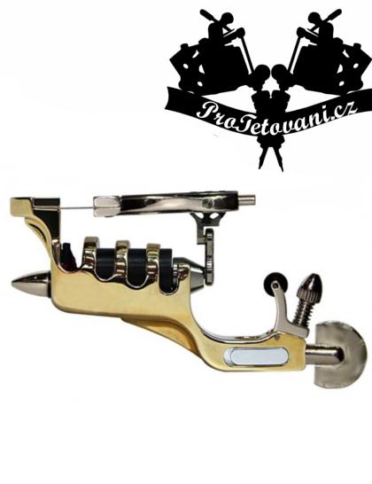 Rotační tetovací strojek Gold Ribs a tetovací grip
