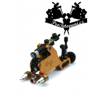 Rota Gold rotary tattoo machine and tattoo grip