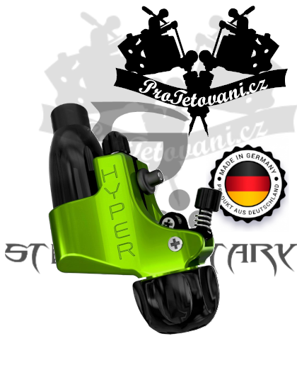 Rotační tetovací strojek STIGMA HYPER V4 GREEN