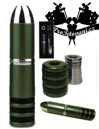 Rotační tetovací strojek SUNSHINE ARMY GREEN