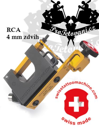 Rotační tetovací strojek SWISSTATTOOMACHINE GoldLine RCA