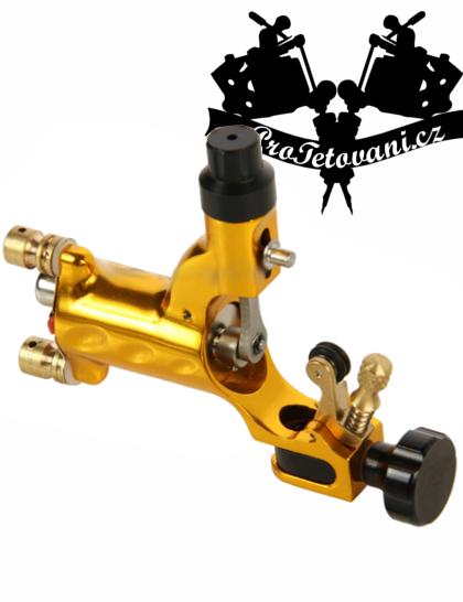 Rotační tetovací strojek Gold Fly s RCA i clip cord konektorem