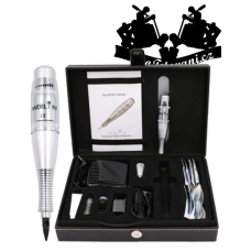 Professional tattoo set for permanent make-up in a Merlin case