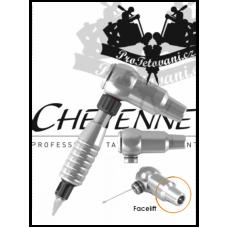 CHEYENNE THUNDER SILVER A GRIP rotary tattoo machine
