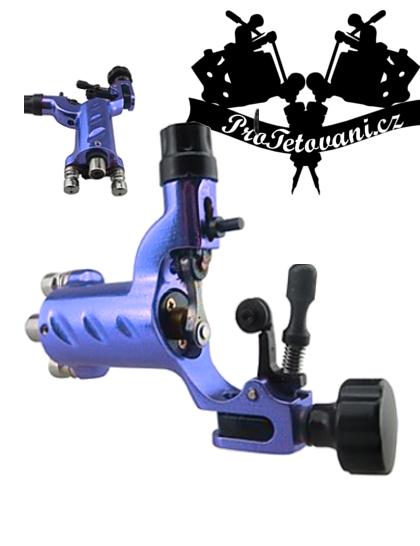 Rotační tetovací strojek Fly Blue s RCA i clip cord konektorem
