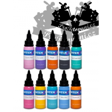 Set of pastel tattoo colors Intenze 10 colors