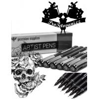 Set profesionálních per na kreslení tetovacích motivů