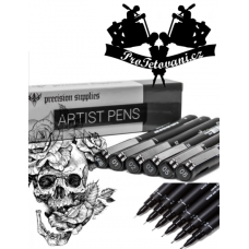 Set of professional pens for drawing tattoo motifs