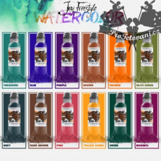 Set of tattoo colors World Famous Ink Jay Freestyle Watercolor 12 colors in a set