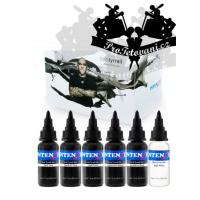 Set of tattoo inks Intenze Ink Bob Tyrrell Colors 30ml