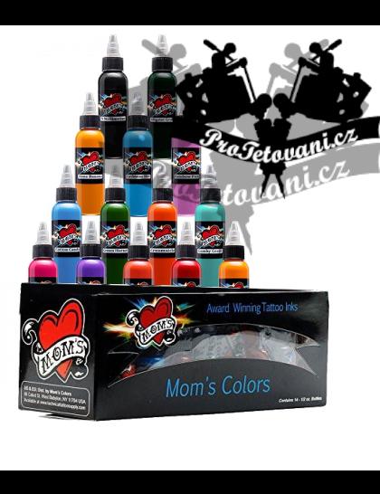 Set tetovacích barev Moms Millennium pro barevné portréty X2 14 barev