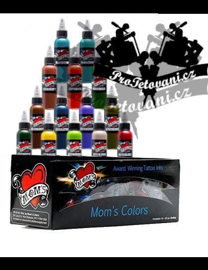 Set tetovacích barev Moms Millennium Exotic 14 barev  v sadě