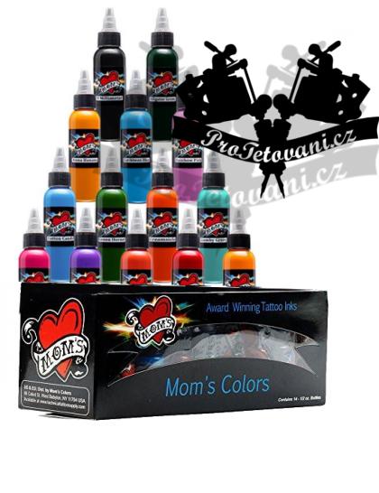 Set tetovacích barev Moms Millennium pro barevné portréty 14 barev