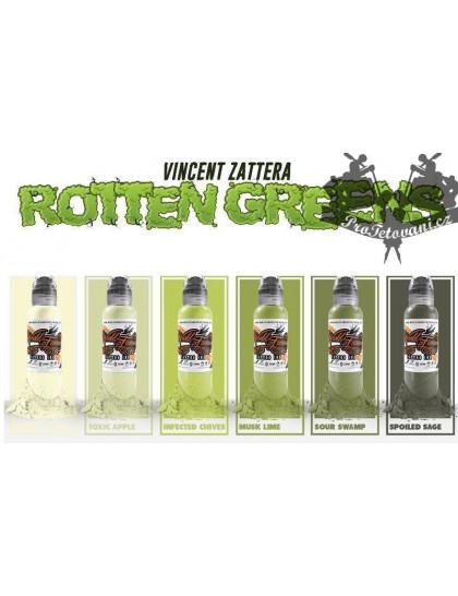 Set tetovacích barev Vincent Zatters Rotten Green 6 ks