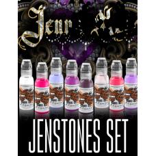 Set of tattoo colors World Famous Ink Jenna Kerr Jenstone 8 colors in a set