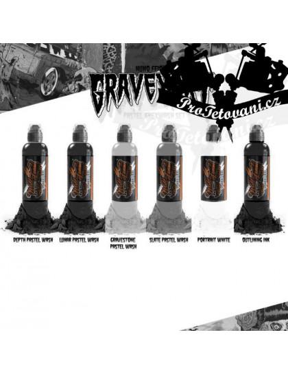 Set tetovacích barev World Famous Ink Nuno Feio Pastel Graveart