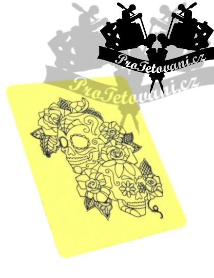 Silikonová trénovací tetovací kůže Skull