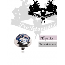 Jewelry for microdermal piercing Glitter blue