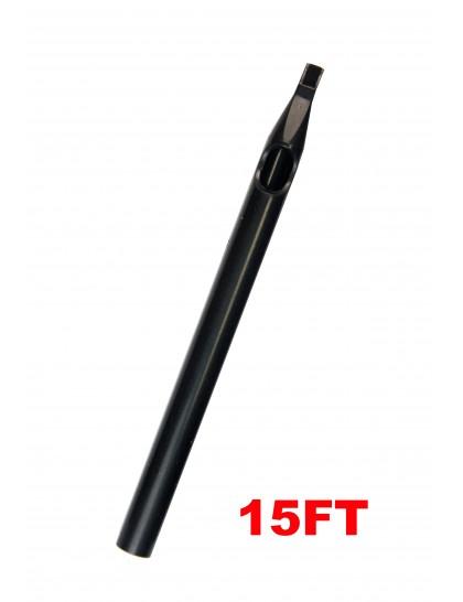 Sterilní tetovací špička dlouhá 15FT černá