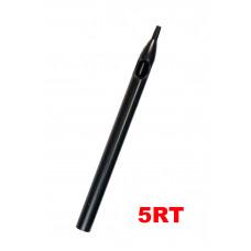 Sterile tattoo tip long 5RT black