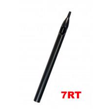 Sterile tattoo tip long 7RT black