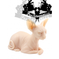 Silicone realistic cat for Sphynx tattoos