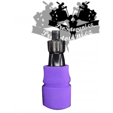Sterile cartridge tattoo grip with foam sleeve and ring