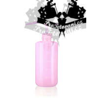 Syringe plastic bottle with tattoo pipette 500ml PINK