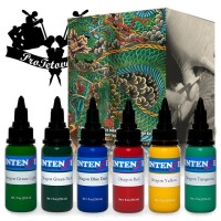 Set of tattoo colors Intenze Japaneze Dragon 6 colors in a set