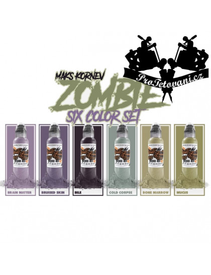 Set tetovacích barev Maks Kornev Zombie 6 ks