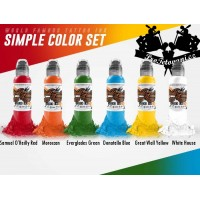 Set of tattoo colors World Famous Ink 6 colors in a set