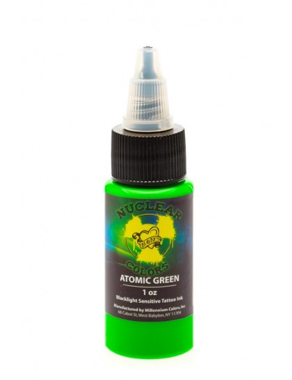 UV tetovací barva MOMS Nuclear Colors Atomic Green