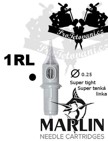 Tetovací cartridge MARLIN 1 RL SUPER TIGHT