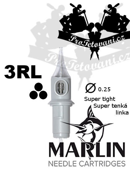Tetovací cartridge MARLIN 3 RL SUPER TIGHT