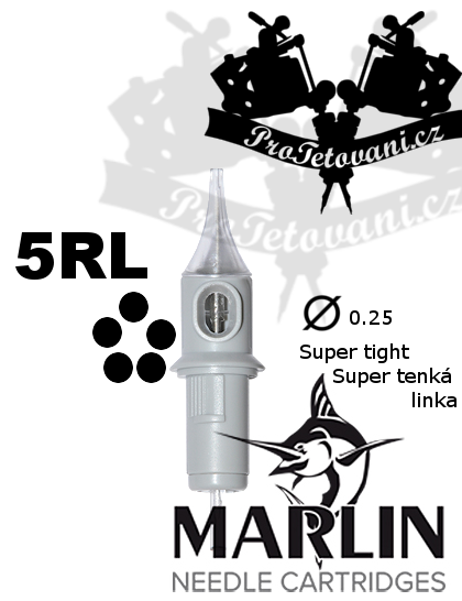 Tetovací cartridge MARLIN 5 RL SUPER TIGHT