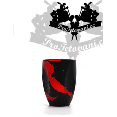 Finger Black Red Nest tattoo grip for PEN type machines