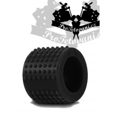 Silicone grip cover with massage serrations black
