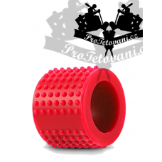 Silicone grip cover with massage serration red