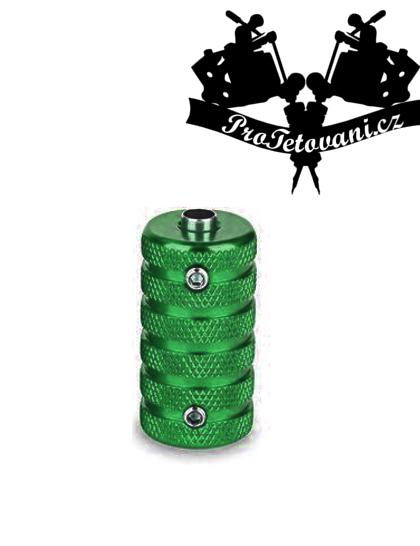 Tetovací grip a tubus protiskluzový 25 mm green