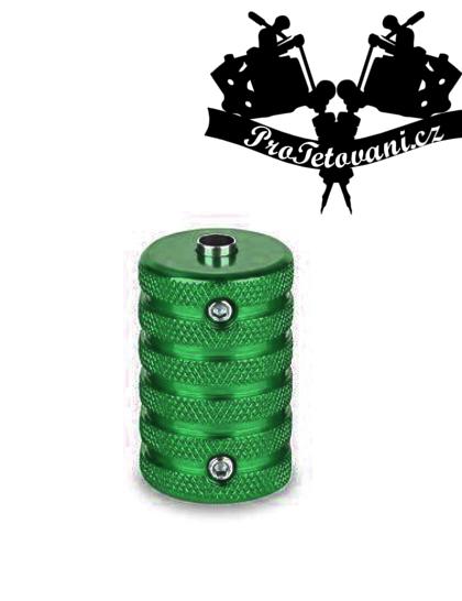 Tetovací grip a tubus protiskluzový 30 mm green