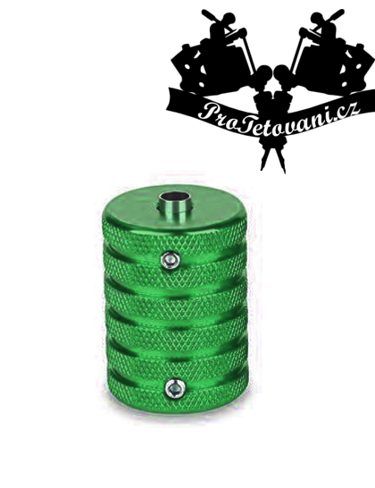 Tetovací grip a tubus protiskluzový 35 mm green